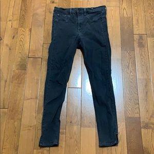Rag & bone dark gray super skinny jeans